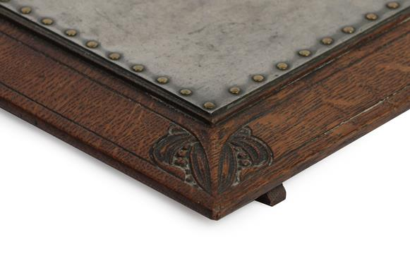 Arthur W Simpson (1857-1922) and Hubert Simpson (1889-1975) An Oak Easy Stool, with studded - Image 2 of 6
