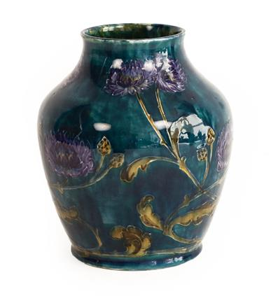George Cartlidge (1868-1961) for Sampson Hancock & Sons: A Morris Ware Vase, No. C3-13, decorated - Image 3 of 4
