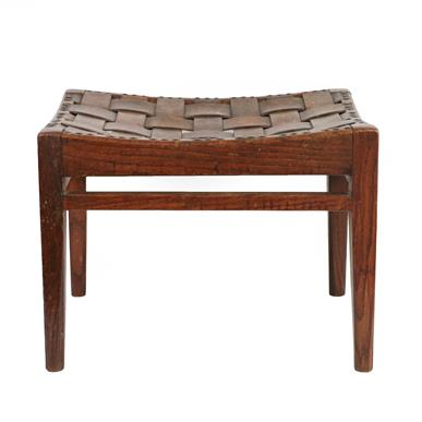Arthur W Simpson (1857-1922) and Hubert Simpson (1889-1975) An Oak Easy Stool, with studded - Image 4 of 6