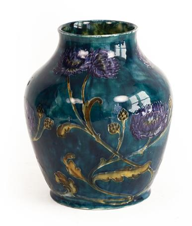 George Cartlidge (1868-1961) for Sampson Hancock & Sons: A Morris Ware Vase, No. C3-13, decorated