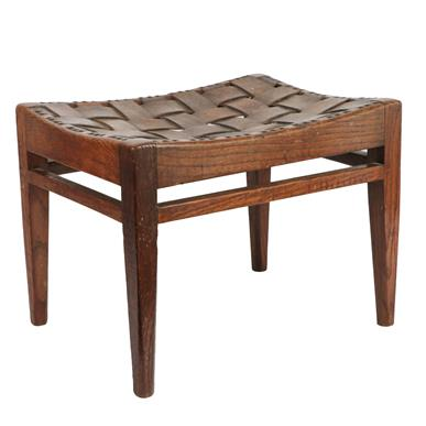 Arthur W Simpson (1857-1922) and Hubert Simpson (1889-1975) An Oak Easy Stool, with studded - Image 5 of 6