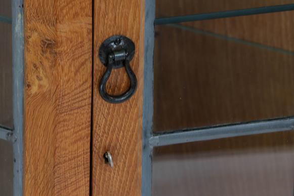 Workshop of Robert Mouseman Thompson (Kilburn): An English Oak Glazed Hanging Corner Cupboard, the - Image 2 of 3