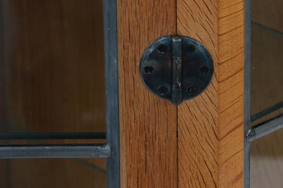 Workshop of Robert Mouseman Thompson (Kilburn): An English Oak Glazed Hanging Corner Cupboard, the - Image 3 of 3