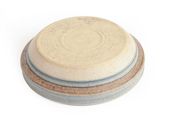 Victor Priem (Latvian, 1925-1989): A Stoneware Bowl, incised abstract pattern, signed Victor Priem - Image 3 of 3