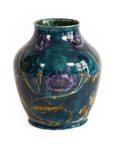 George Cartlidge (1868-1961) for Sampson Hancock & Sons: A Morris Ware Vase, No. C3-13, decorated - Image 2 of 4