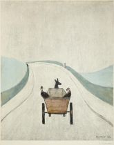 After Laurence Stephen Lowry RBA, RA (1887-1976) ''The Cart'' Signed, with the blindstamp for the