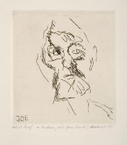 Frank Auerbach (b.1931) British/German ''Joe Tilson, from Six Etchings of Heads'' Signed and