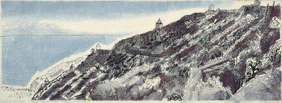 Edward Bawden, CBE RA (1903-1989) ''Portugal: Serra da Arrabida'' Signed and inscribed, artist's