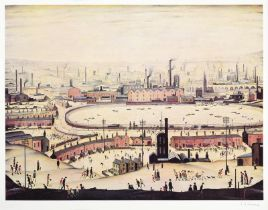 After Laurence Stephen Lowry RBA, RA (1887-1976) ''The Pond'' Signed, with the blindstamp for the