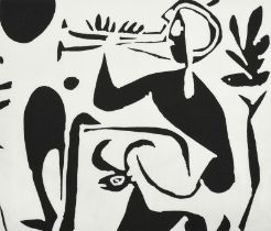 Pablo Picasso (1881-1973) Spanish ''Musical Faun'' Screen printed cotton for Bloomberg Fabrics, USA,