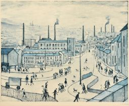 After Laurence Stephen Lowry RBA, RA (1887-1976) ''Huddersfield'' Signed, with the blindstamp for
