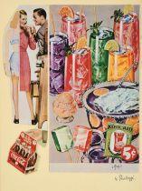 Sir Eduardo Paolozzi CBE, RA (1924-2005) Scottish ''BUNK- Refreshing and Delicious'' Signed,