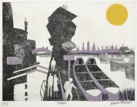 Julian Trevelyan RA (1910-1988) ''Oxford'' (1969) Signed, inscribed and numbered 1/75, etching
