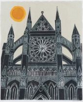 Robert Tavener (1920-2004) ''Westminster Abbey (Rose Window)'' Signed, inscribed and numbered 11/75,