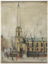 After Laurence Stephen Lowry RBA, RA (1887-1976) ''St Luke's Church, London'' Signed and numbered