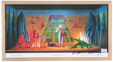 After David Hockney OM, CH, RA (b.1937) ''The Magic Flute'' Signed, exhibition poster for Salts