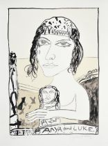 John Bellany CBE, RA (1942-2013) Scottish ''Anya and Luke'' Signed and inscribed publisher's proof