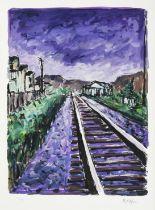 Bob Dylan (b.1941) American ''Railtracks'' (2018) Set of four giclee prints from ''The Drawn Blank