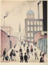 After Laurence Stephen Lowry RBA, RA (1887-1976) ''Mrs Swindell's Picture'' Signed, with the