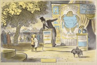 Edward Ardizzone CBE, RA (1900-1979) ''The Fattest Woman in the World, A Guinness Lithograph'' (