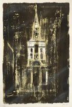 John Egerton Christmas Piper CH (1903-1992) ''Christ Church, Spitalfields, London'' Signed and