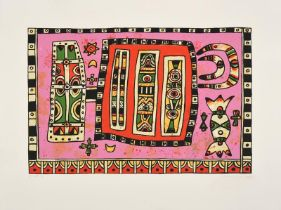 Alan Davie (1920-2014) Scottish ''To a Celtic Spirit II'' Signed and dated 2001, inscribed