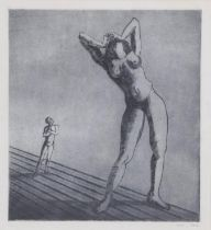 Peter Laszlo Peri (1899-1967) ''His Dream Woman'' Signed and dated 1947, etching and aquatint,