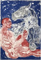 Dame Elisabeth Frink CH, DBE, RA (1930-1993) ''Man and Horse'' Signed and numbered 19/70,