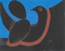 Josef Herman OBE RA (1911-2000) ''Night'' Signed and numbered 41/50, lithograph, together with a
