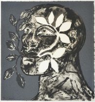 Dame Elisabeth Frink CH, DBE, RA (1930-1993) ''Green Man'' Signed and numbered 55/70, with the Kip