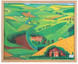 After David Hockney OM, CH, RA (b.1937) ''The Road Across the Wolds'' Signed, lithographic poster,