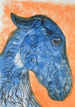 Dame Elisabeth Frink CH, DBE, RA (1930-1993) ''Blue Horse Head'' (1988) Signed and numbered 58/70,