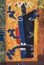 John Egerton Christmas Piper CH (1903-1992) ''Foliate Head'' (1955) Screen printed cotton, for David