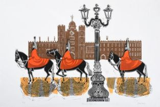 Robert Tavener (1920-2004) ''Horseguards St. James's Palace'' Signed, inscribed and numbered 41/