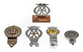 Royal Automobile Club Association: A Veteren AA Badge, numbered N37427; A Royal Automobile Club