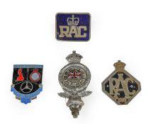 The Royal Automobile Club International Rally Xth: A Chromed and Enamel Car Badge; An RAC