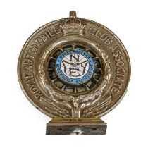 Alkerton & Co: A Silver Plated Royal Automobile Club Associate Car Mascot, no.N132 and enamelled