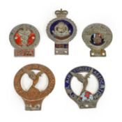 J R Gaunt: A Chrome Plated and Enamelled Royal Military Police Car Badge; Two Royal Air Force