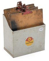 Shell Lubrication: A Vintage Workshop Counter-Top Metal Clipboard Holder; and Five Vintage Wooden