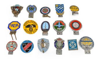 Sixteen Assorted Nalgo Car Badges, including North Downs Motor Club, The Women Drivers