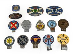 Fourteen Assorted Enamel and Chromed Car Badges, to include 2x Albion, Austin Healey Club, VEC Club,
