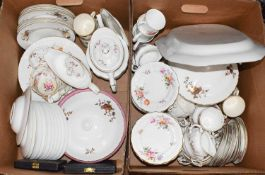 A quantity of assorted China including Royal Crown Derby 'Derby Poses' teaware, Royal Worcester