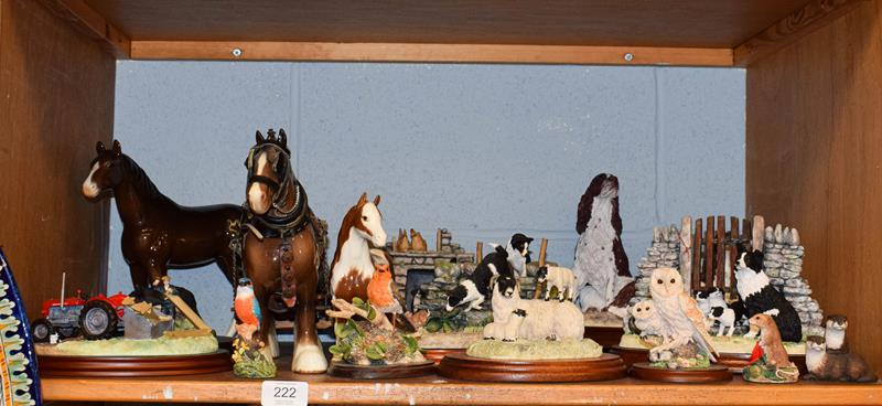 Beswick and Border Fine Arts including Pinto Pony, skewbald gloss, Shire Mare with associated