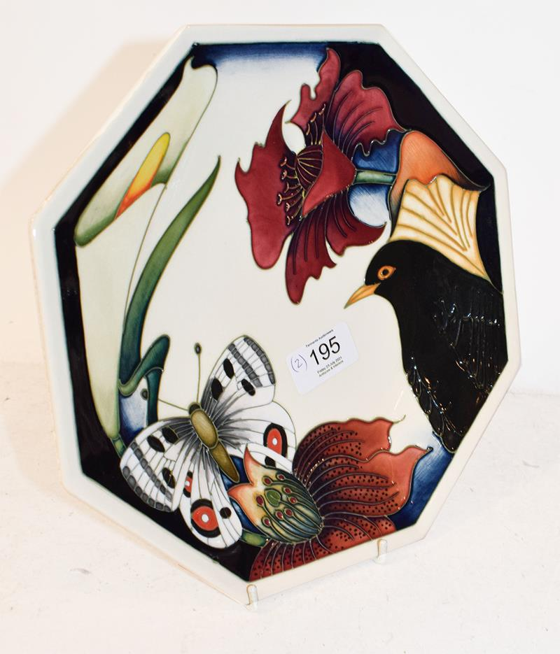 A modern Moorcroft Chrysanthemum pattern ginger jar and cover, designed by Carole Lovatt, 15.5cm and - Image 6 of 7