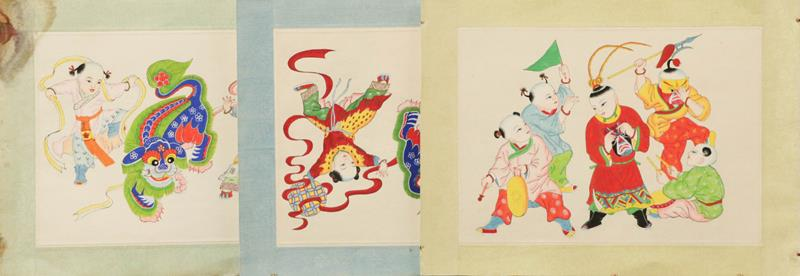 Various decorative textiles and a Japanese musical album - Image 4 of 4