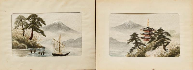 Various decorative textiles and a Japanese musical album - Image 3 of 4