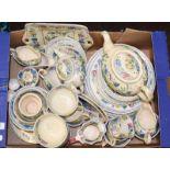 Quantity of Spode Italian pattern wares, Denby tea wares and Masons regency pattern wares (three