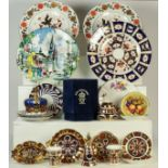 A quantity of mainly Royal Crown Derby including 100 Royal Years Crown form paperweight, Imari