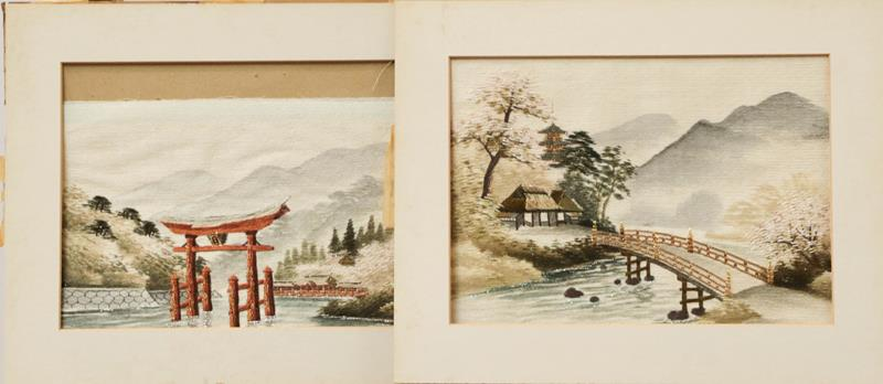 Various decorative textiles and a Japanese musical album - Image 2 of 4