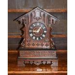 A Black Forest striking cuckoo table clock, circa. 1890 46cm